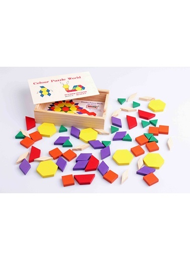 Ahşap 60'lı Tangram Seti-Learning Toys